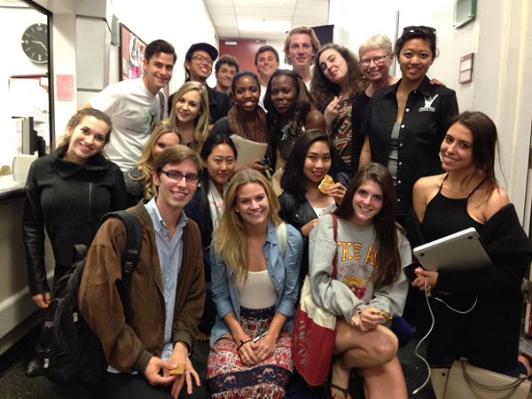 With students of Judith's course at USC School of Cinematic Arts, spring semester 2014.